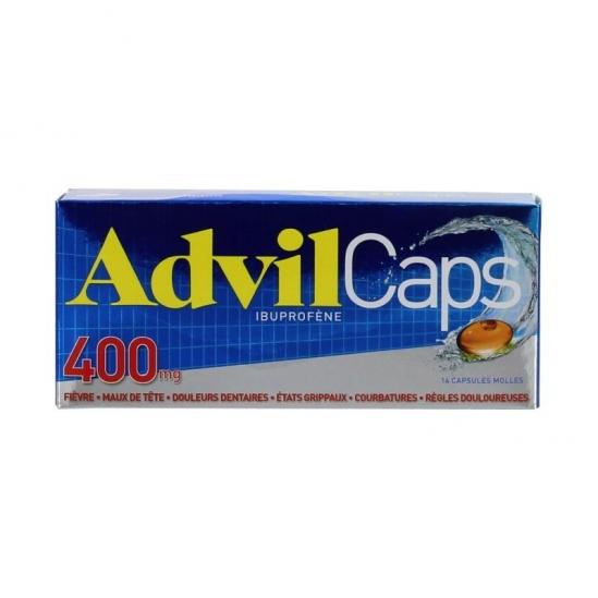 Advilcaps 400mg 14 Capsules Molles