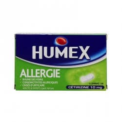Humex allergie cetirizine 10mg 7 comprimés pelliculés sécables
