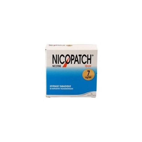 Nicopatch 7mg/24h dispositif transdermique 28 patchs