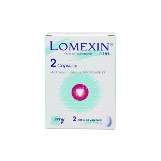Lomexin 600mg 2 capsules molles vaginale