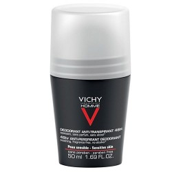 Vichy Homme Déodorant Bille Peaux Sensibles 50ml