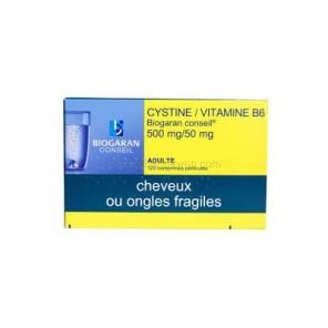 Cystine/Vitamine B6 Biogaran 500mg/50mg 120 comprimés
