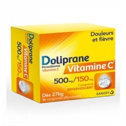 Doliprane Vitamine C 500mg/150 mg 16 comprimés