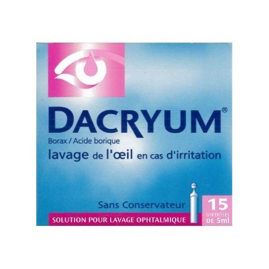 Dacryum solution pour lavage ophtalmologique 15 unidoses 5 ml