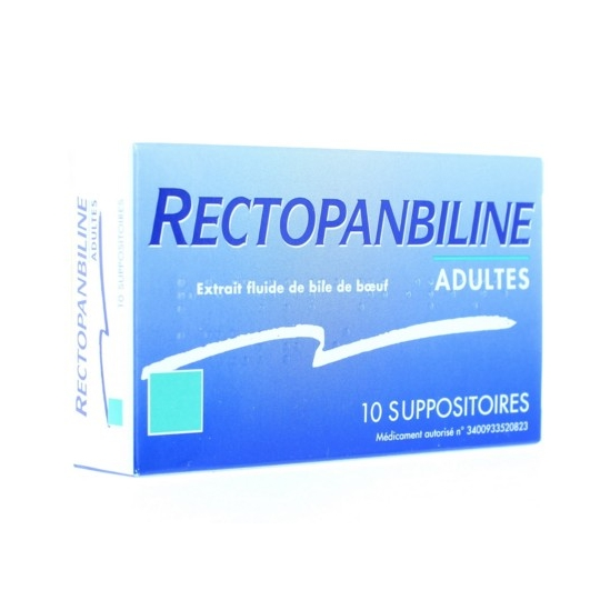 Rectopanbiline 10 Suppositoires adulte