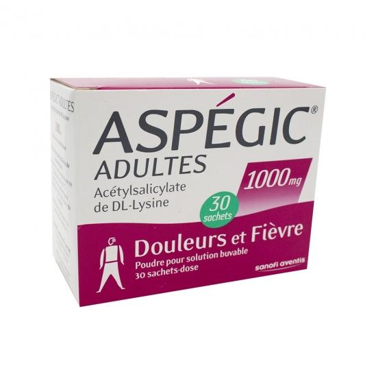 Aspegic 1000mg 30 sachets
