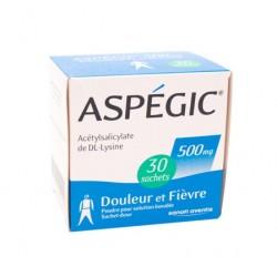 Aspegic 500mg 30 sachets