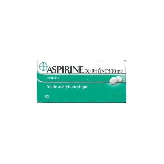 Aspirine du rhône 500 mg 50 comprimés