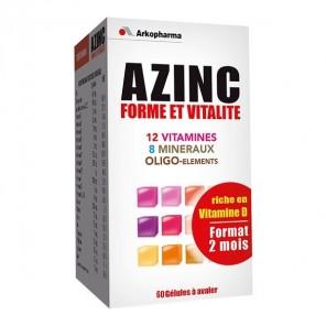 Arkopharma Azinc forme et vitalité 60 gélules