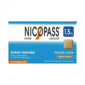 Nicopass 1.5mg 36 Pastilles Réglisse Menthe