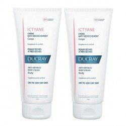 Ducray ictyane crème anti-desséchement corps 2x200ml