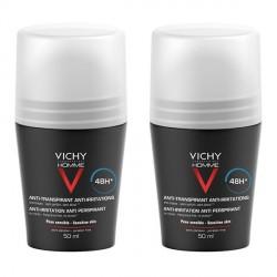 Vichy homme déodorant bille peaux sensibles 50ml x2