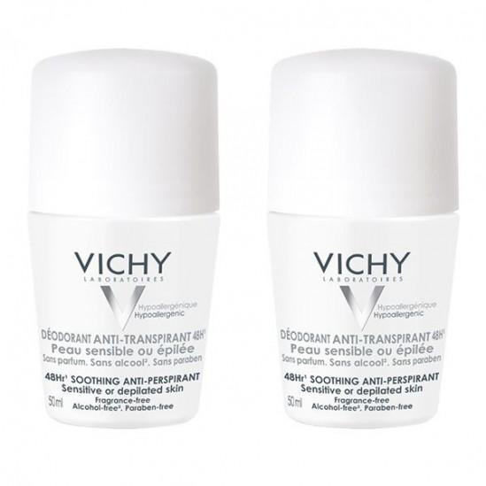 Vichy déodorant duo billes peaux sensibles 2x50 ml