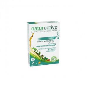 Naturactive dual aux essences eucalyptus + huiles essentielles 10 gélules + 10 capsules