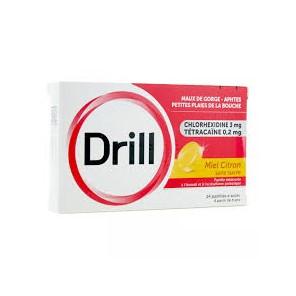 DRILL MIEL CITRON SANS SUCRE pastille